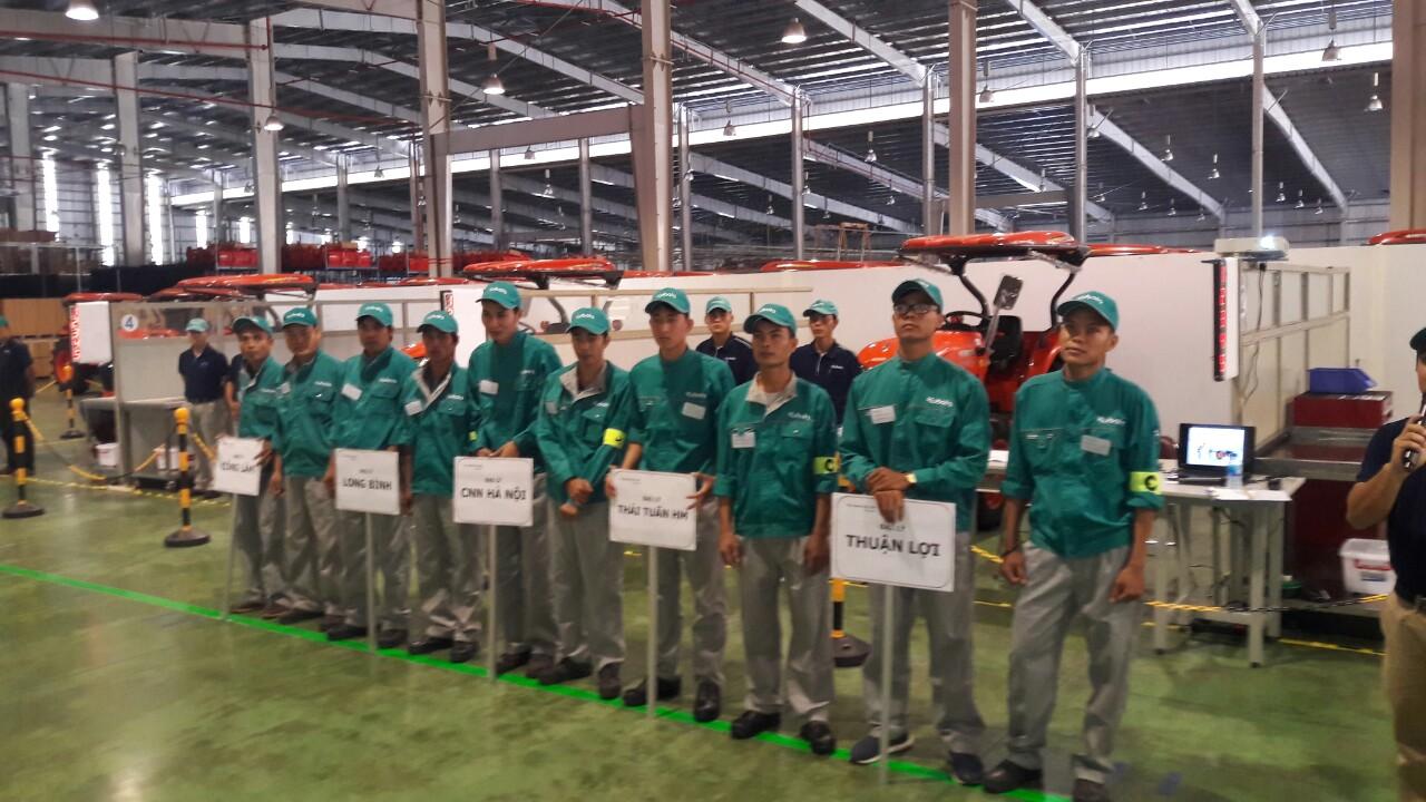 Hội thi kỹ năng dịch vụ Kubota2018